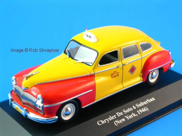 ROB'S 1:43-SCALE TAXI DEPOT - DIFFERENT TAXI MODELS: IXO